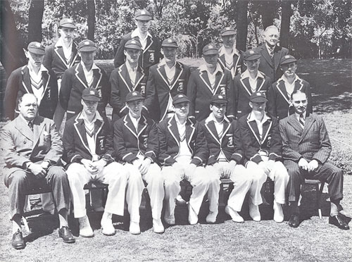 L'équipe d'Angleterre lors du South Africa Tour 1938-1939